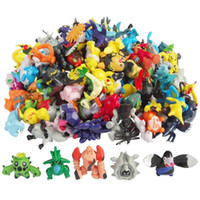 Wholesale Large Pvc - 96pcs lot Poke Figures 4-6CM Poke Monster PVC Action Figures Large Size Pikachu Charizard Eevee Bulbasaur Suicune PVC Mini Figure Toys