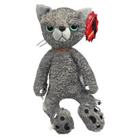 Wholesale Spike Plush Doll - Wholesale-New Yoneda People Spike Illustration Tamino Maita Scratch Cat Claw Claw Simulation Can Sit Tight Cat Plush Doll Free Shipping