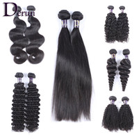 Brésilien brésilien indonésien Formes de cheveux malaisiennes 2pcs / lot Unprocessed Virgin Human Hair Straight Body Wave Deep Wave Kinky Curly Loose Wave