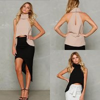 Wholesale Tank Tops For Cheap - wholesale cheap price hot new fashion summer style high neck sleeveless casual collection tanks tops for women