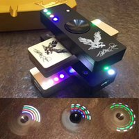 Wholesale Light Cigarette Lighter Rechargeable - LED Flash Light Metal Alloy Tri-Spinner Hand Spinner USB Newest Cigarette Cigar Lighter Fidget Toy Finger Gyro USB Charger Rechargeable