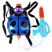 Wholesale Color Blaster - Kids Cute Ladybird Water Gun Outdoor Super Soaker Blaster Backpack Pressure Squirt Pool Toy Fun Sports Summer Swimming Pool Battle