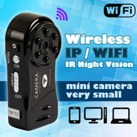 Wholesale hidden motion controlled video cameras - Wholesale- Wireless WiFi Mini Camera HD IP Motion Camcorder Espia Micro Security Action Video Portable Hidden pan Cam