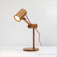 Wholesale Modern led table lamps Rustic Style Bamboo LED desk light Creative book lamp bedroom bedside lighting decoration AC110 V