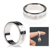 Wholesale silver ring magic trick - Silver Strong Magnetic Magic Ring 18 19 20MM Dia Coin Finger Magician Trick Props Show Tool Magic Pring Ring trick Toys WIth Box