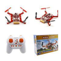 Wholesale Rc Diy - Wholesale- Mini Flying Blocks Drones 3D DIY Bricks Rc Quadcopter Toys For Kids Rc Assembled Model Drone Building Kits Educational