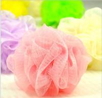 acessórios para o corpo de banho venda por atacado-Mini Bath Shower Body Exfoliate Puff Sponge Mesh Net Ball Banho Acessórios de esponja color aleatório DHL