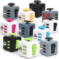 Wholesale Desk For School - 6 Sides Fidget Cube Clicker Anti Irritability Dice Desk Toys For Adults School Prime Children Cheap Fidget Toys Spin Roll Glide