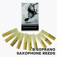 Wholesale Soprano Saxophone Reeds - Wholesale- SHINENG bB 2 1 2 Bamboo Straight Horns Soprano Saxophone Reeds Sax Accessories 10pcs box