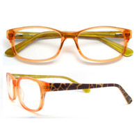 Wholesale Designer Optical Eyewear - New arrival Rectangle plank blue orange black optical eyewear frame for men women spring hinge prescription designer eyeglasses frame
