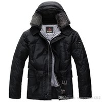 Wholesale Fur Slim Fit Jacket Men - Uomo Luxury Peuterey Men Down Coat Windbreaker Parka Male Fur Jacket Slim fit Real photos Super Quality