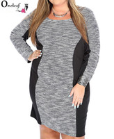 vestido casual diferente venda por atacado-Mulheres plus size dress sexy 5 estilos diferentes decote em V, gola redonda, solto tipo gordura senhoras roupas saias casuais grande vestido