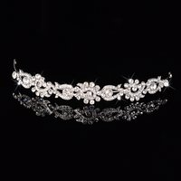 Wholesale Short Hair Hairband - 2017 New Arrival Silver Short volume Diamonds crown Pageant Tiaras Hairband Crystal Bridal Crowns For Brides Hair Jewelry Headpiece