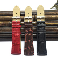 Wholesale Low Price Good Quality Watches - Wholesale- NEW! Red leather watchband 20mm 2015 good Quality women watch clock straps 20mm watchbands 20mm Low Price Wholesale B005-1