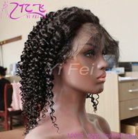Wholesale Jerry Curl Lace Wig Human - 100% Human Full Lace Wigs Jerry Curl Black Brazlian Human Hair Lace Front Curly Wig For Women From Yifei