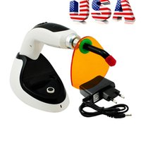 Wholesale Whitening Accelerator Light - Free Shipping From USA Color Black Dental Curing Light New Wireless Cordless LED Light Lamp1800MW With Teeth Whitening Accelerator