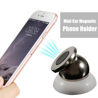 Wholesale Car Support Iphone - 360 Car Holder Mini Air Vent Mount Magnet Magnetic Cell Phone Mobile Holder Universal For iPhone 7 6 5 GPS Bracket Stand Support