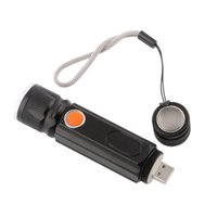 Wholesale Interface Travel - Powerful Multifunction Chargeable Work Light 1*XML-T6+1*COB LED Flashlight 4 Mode 2in1 Torch Working Lamp Camping Hiking with USB Interface