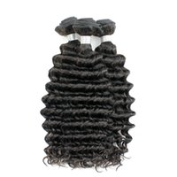 Deep Wave Hair Weave 4 Bundles 10-26 pouces Natural Brown Color Brésilien Péruvien Malaisien Mongolian Curly Virgin Human Hair