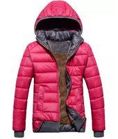 kadın ceketler ücretsiz gönderim toptan satış-2017 yeni bayan modelleri spor ceket artı kadife aşağı ceket kadın kış sıcak kapüşonlu ceket Çıkarılabilir wd8162 ücretsiz kargo