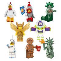 Wholesale Plastic Blocks For Babies - 8PCS Super Hero Building Blocks Mini Medusa Rockey Boy Buzz Lightyear Baby Figures Block Toys For Children Bricks Kids Gifts Toy