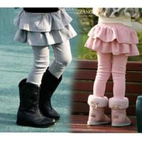 bebeğim sıska bacaklar toptan satış-Çocuklar Legging Kız Etekler Pantolon Kek Etek Kız Bebek Pantolon Tutu Çocuklar Tayt Etek-Pantolon Pileli Etek