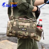 nuevos carretes al por mayor-Bolsa de pesca New Fishings Gear Release Multi Functional Road Package Cintura de gran tamaño Hombro Fish Señuelo carrete Tackle Bags 60wh F