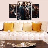 Barato Três Arte De Lona-4pcs / set Unframed Biohazard Resident Evil Três Guerreiros Game HD Print On Canvas Wall Art Picture Para Casa e Sala de Estar