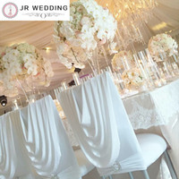 Wholesale chiavari chairs for sale - Group buy 100 Spandex Chiavari Chair Cover With Valance at Back Lycra Valance Chair Cover for Tiffany Chair