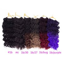 Wholesale Crochet Pack - 14 inch Curly Senegalese Twist Crochet Braids 35 Roots Synthetic Braiding Hair Extension Low Temperature Fiber 1 pack lot