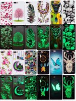 Wholesale Iphone Case 13 - 13 patterns Luminous Flower Cover Glow In Dark Soft TPU Case For Iphone 8 Cover Iphone 6 6plus IPhone 7 7plus Back Cover