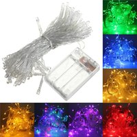 батарея pvc оптовых-2M / 3M / 4M / 5M / 10M Led свет шнура AA батарейках Fairy пвх Струнный свет партии Рождество Свадьба Новый год украшения огни