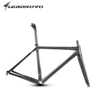 Wholesale Carbon Fiber Bike Frame 56cm - 2017 NEW T1000 full carbon fiber road frame Di2&Mechanical racing bike carbon road frame+fork+seatpost+headset carbon road bike LEADNOVO