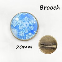 Wholesale Wholesale China Like Plates - Cute snowman like Magician children Jewelry brooches pins for men and women Glass cabochon dome metal Christmas gift