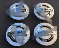 bonés nissan venda por atacado-Tampas do tampão de cubo da roda 4x para Nissan Murano Sentra 54mm de Nissan 350 Z Altima
