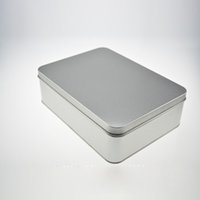 Wholesale Tools 65mm - Size:220*160*65mm Rectangle Plain Storage Iron Box Multifunctional Home Metal Cans Tools Stationery Accessories Box ZA4643