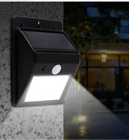 Wholesale Patio Wall Lighting - 20 LED Solar Lights Outdoor,Waterproof Solar Powered Motion Sensor Light Wireless Security Lights Outside Wall Lamp 5000K for Driveway Patio
