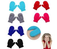 детские перчатки для девочек оптовых-милый ребенок дети перчатки вязание теплые перчатки дети мальчики девочки варежки унисекс перчатки унисекс вязание теплые мягкие перчатки конфеты варежки 6 цветов