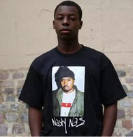Wholesale T Shirt Emperor - 2017 summer Brand hip hop casual Box tag New York rap emperor Nas character joint portrait tee short sleeve t-shirt men