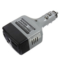 Wholesale Dc Auto Charger - Wholesale-New DC 12   24V to AC 220V   USB 6V Car Mobile Power Inverter Adapter Auto Car Power Converter Charger Portable Car kit Charger