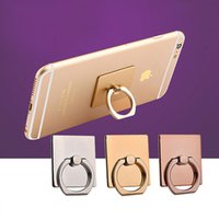 Wholesale Colorful Mobile - Phone Stand Holders Colorful Ring Hook Fashion Universal Mobile Phone Ring Stent Cell Phone Ring Holder Finger Grip with Free Hook