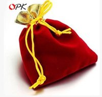 Wholesale Organza Velvet Bags - Velvet Organza Bag Jewelry gift candy Packing Christmas halloween Wedding Voile Bag Multi-Color Gift Pouch Drawstring Pouch