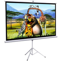"""Wholesale Projector Screen Portable - New Portable 100"""" Projector 16:9 Projection Screen Tripod Pull-up Matte -White"""