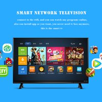 Wholesale Image Led Tv - Free shipping 24inches 1366*768 SMART OS 5.0 HD LED wifi clolor UI 4GB ROM A17 CPU Wireless Compact dazzle black clear good image quality
