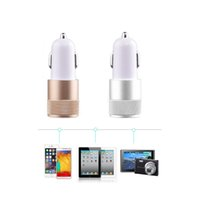 Wholesale Car Cigarette Lighter Voltage - Mini USB 3.1A Car Charger Adapter 2 Port USB Cigarette Lighter for Phone MP3 MP4 Player