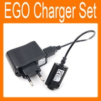 Electrónico cargador de cigarrillos Set USB cargador Cable US / EU / AU adaptador de pared para EGO e cigarrillo EGO-CE4 / T / K / W