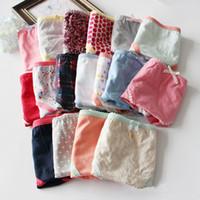 Wholesale Spandex Panty Shorts - Multi Color Print Cotton Extra Big Plus Size Brief XS-L Women Elastane Lace Panty Sexy Underwear Panties Briefs Shorts H248