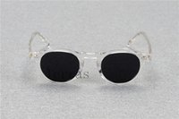 Wholesale prescription polarized lenses - 2017 Oliver Peoples OV5186 Gregory Peck fashion round eyeglasses frames Vintage optical myopia women and men eyewear prescription sun lens
