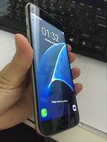 Wholesale Goophone 1gb Ram 32gb - New Goophone S7 S7 edge Phone Android 1GB Ram 32GB Rom Quad Core Show 4G LTE MTK6592 Octa Core 64GB Rom cell phones
