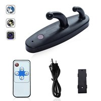Controle remoto Spy Clothes Hook Mini DV Spy Camera HD 1080P DVR Home Security Camera Hanger Hidden Camera